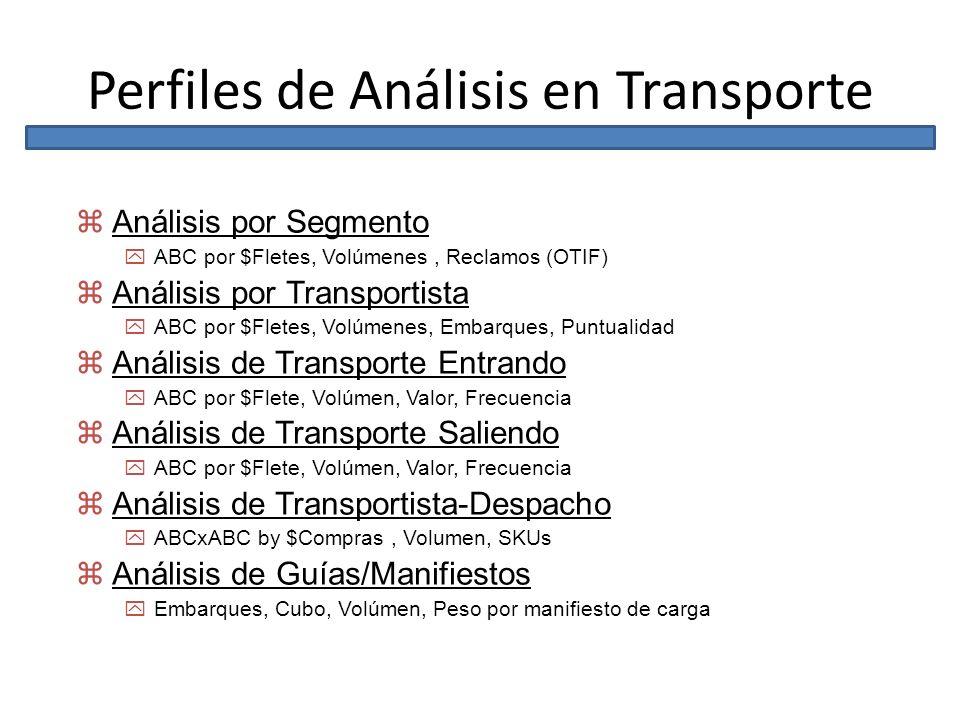 Perfiles de Análisis en Transporte