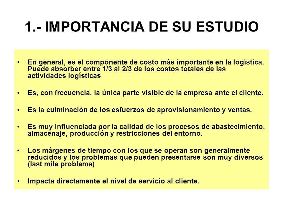 1.- IMPORTANCIA DE SU ESTUDIO