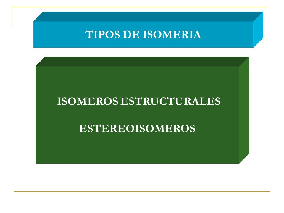 ISOMEROS ESTRUCTURALES ESTEREOISOMEROS