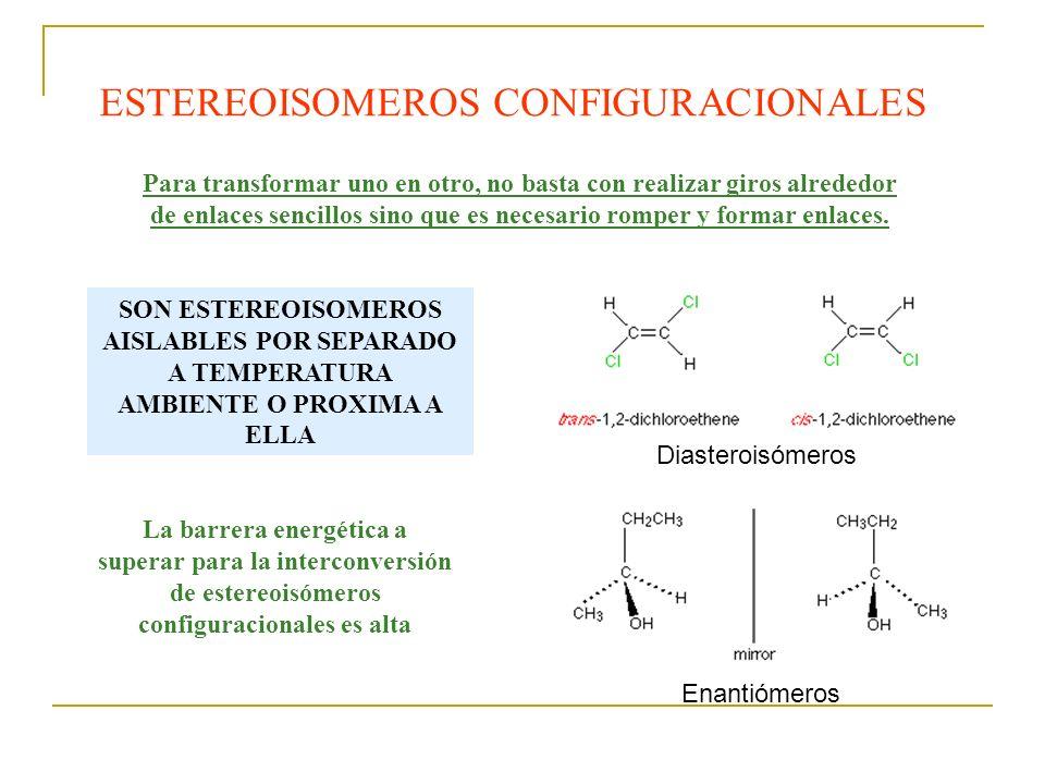 ESTEREOISOMEROS CONFIGURACIONALES