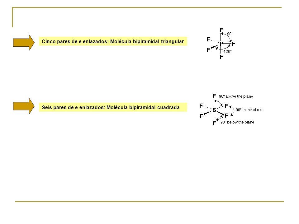Cinco pares de e enlazados: Molécula bipiramidal triangular