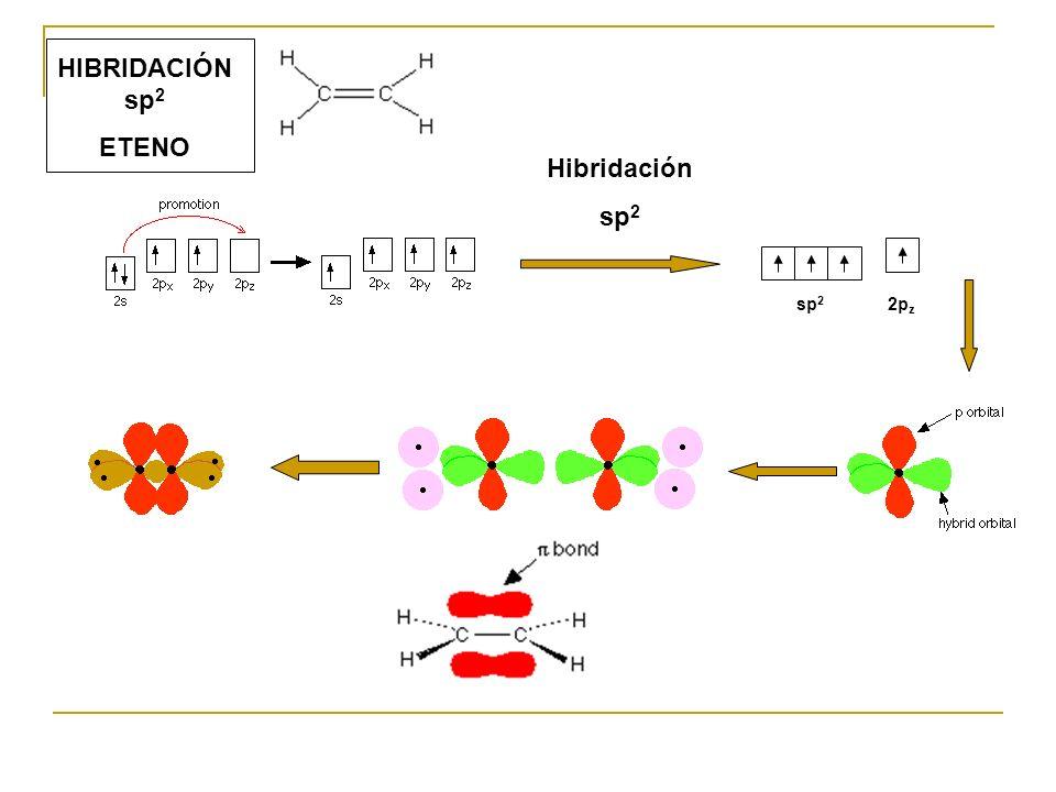 HIBRIDACIÓN sp2 ETENO Hibridación sp2