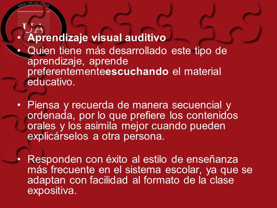 Aprendizaje visual auditivo