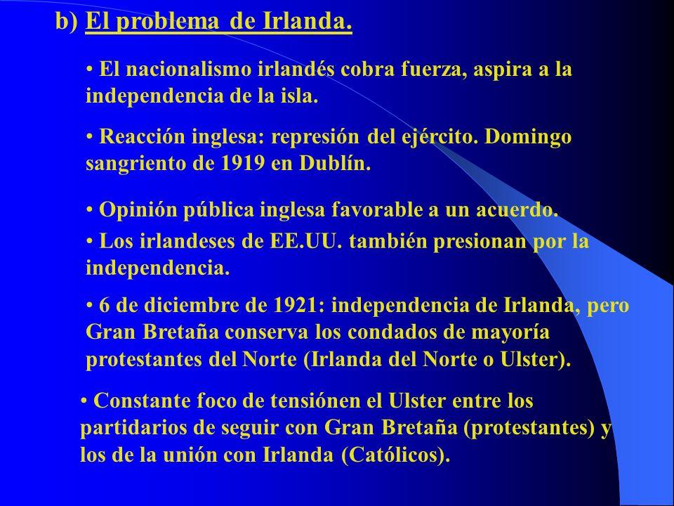 b) El problema de Irlanda.