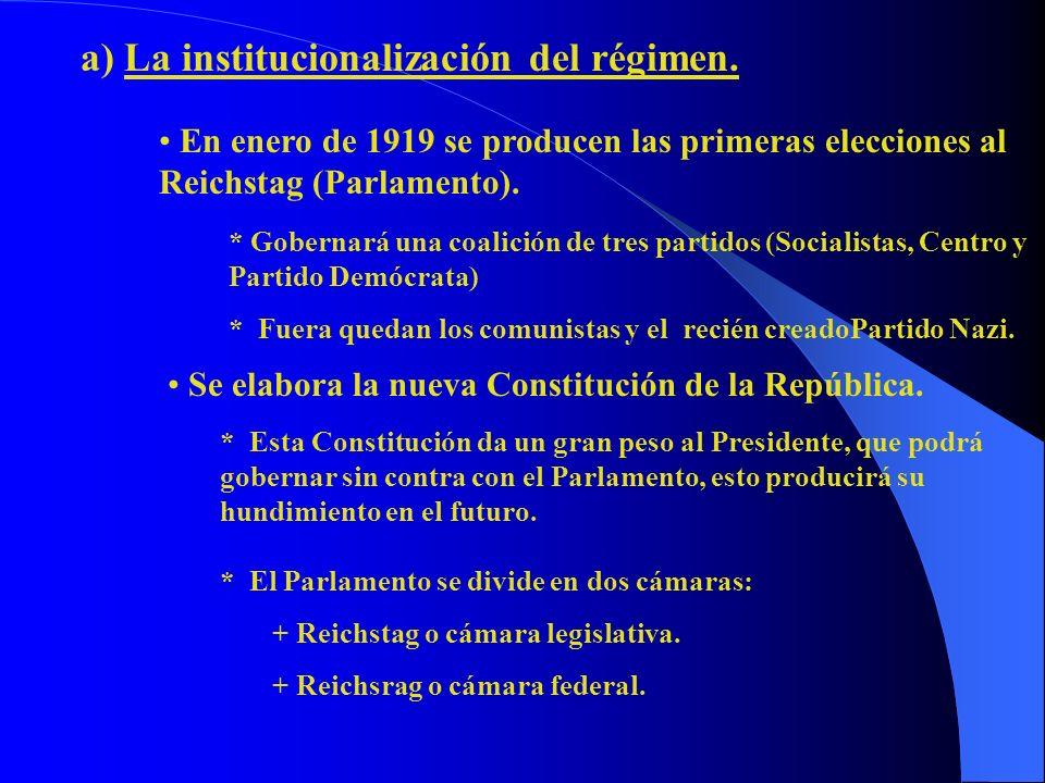 a) La institucionalización del régimen.