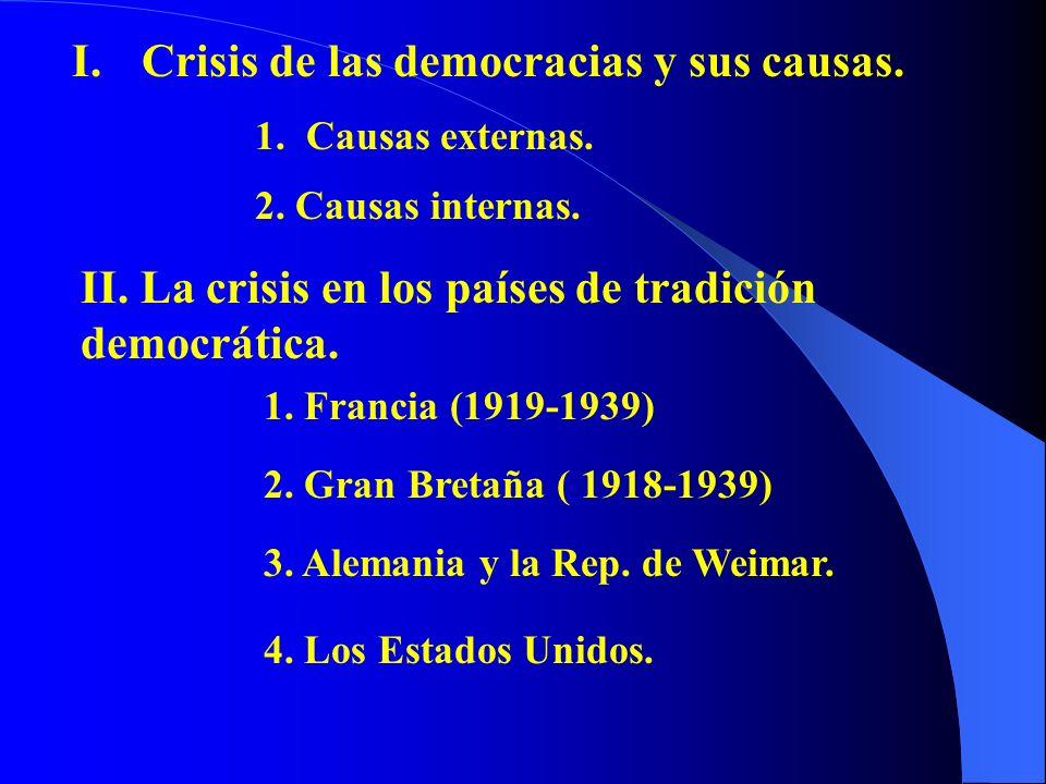 Crisis de las democracias y sus causas.