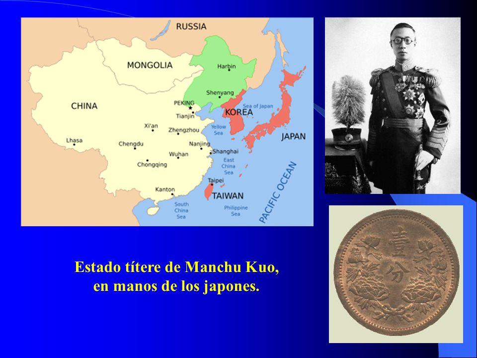 Estado títere de Manchu Kuo, en manos de los japones.
