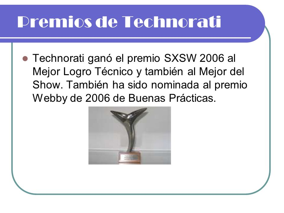 Premios de Technorati
