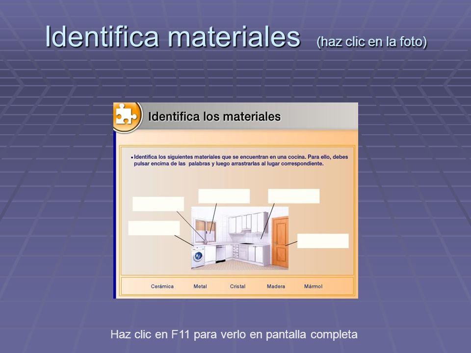 Identifica materiales (haz clic en la foto)