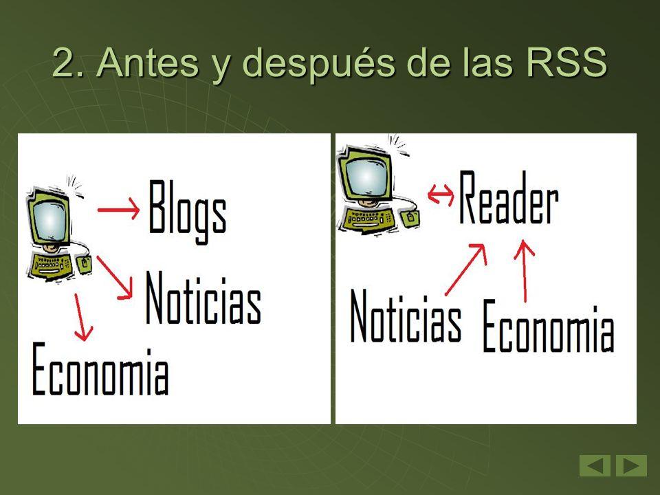 2. Antes y después de las RSS