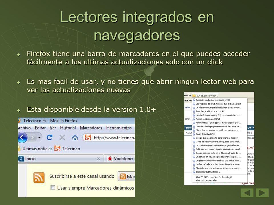 Lectores integrados en navegadores