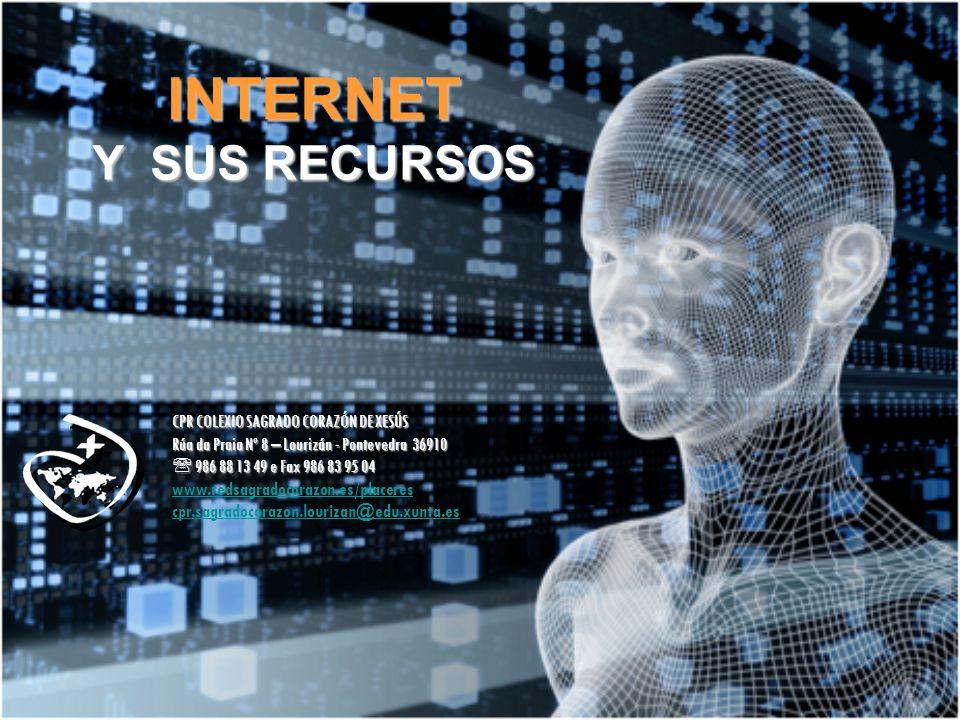 INTERNET Y SUS RECURSOS CPR COLEXIO SAGRADO CORAZÓN DE XESÚS