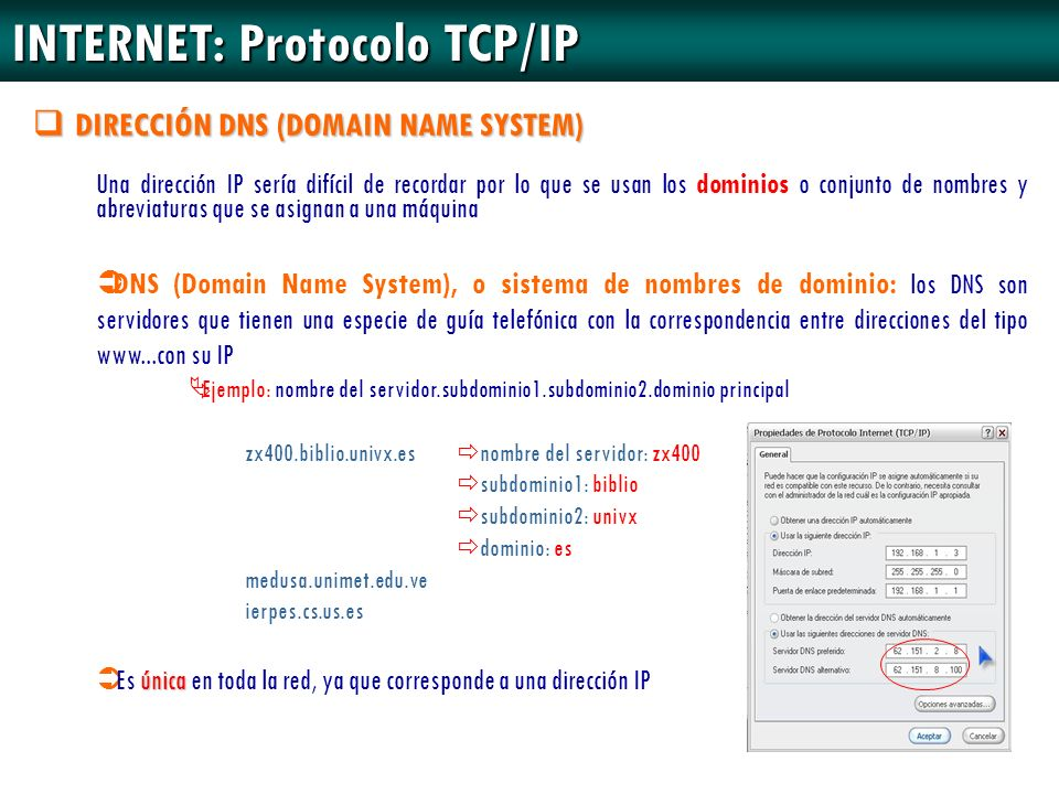 INTERNET: Protocolo TCP/IP
