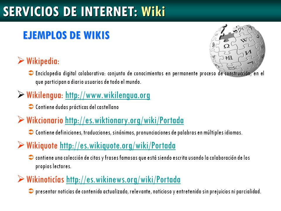 SERVICIOS DE INTERNET: Wiki