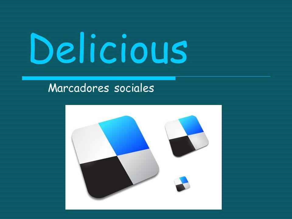 Delicious Marcadores sociales