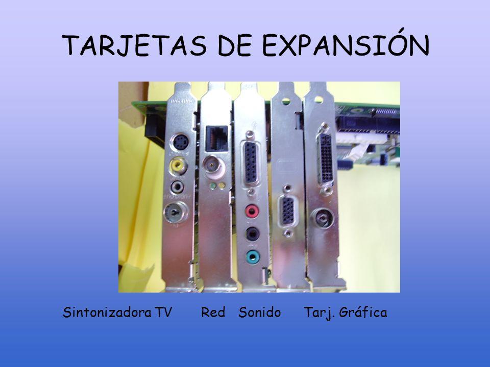 TARJETAS DE EXPANSIÓN Sintonizadora TV Red Sonido Tarj. Gráfica