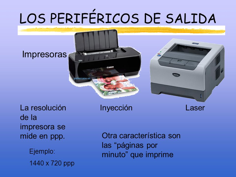 LOS PERIFÉRICOS DE SALIDA