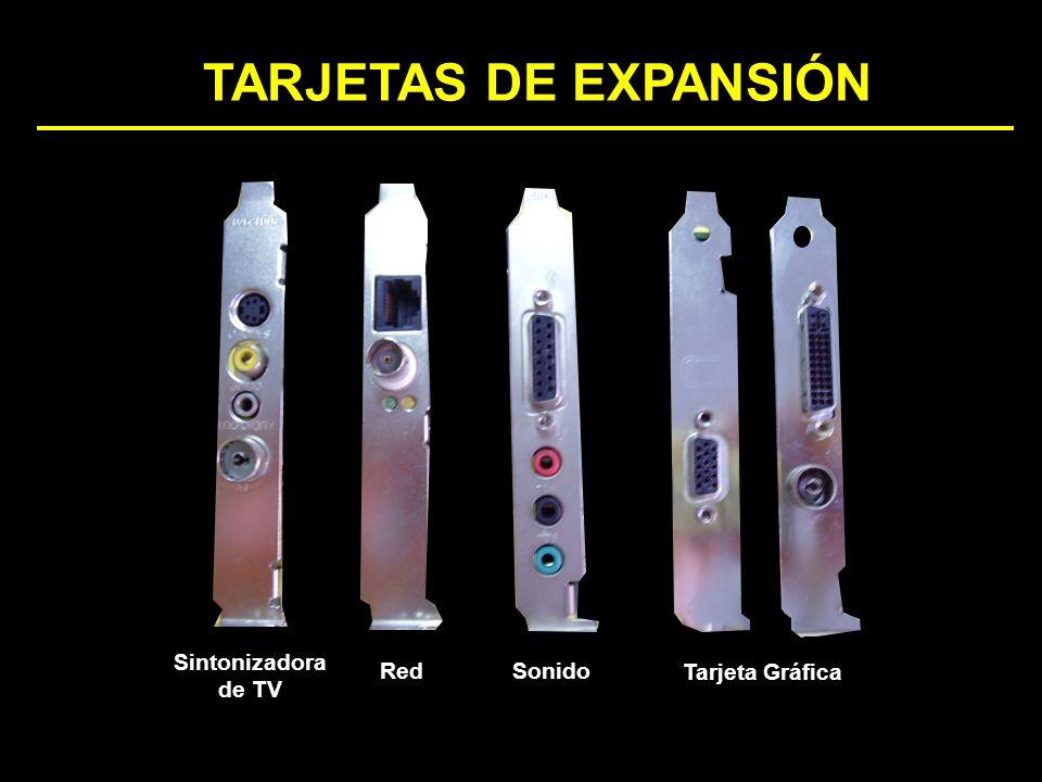 TARJETAS DE EXPANSIÓN Sintonizadora de TV Red Sonido Tarjeta Gráfica
