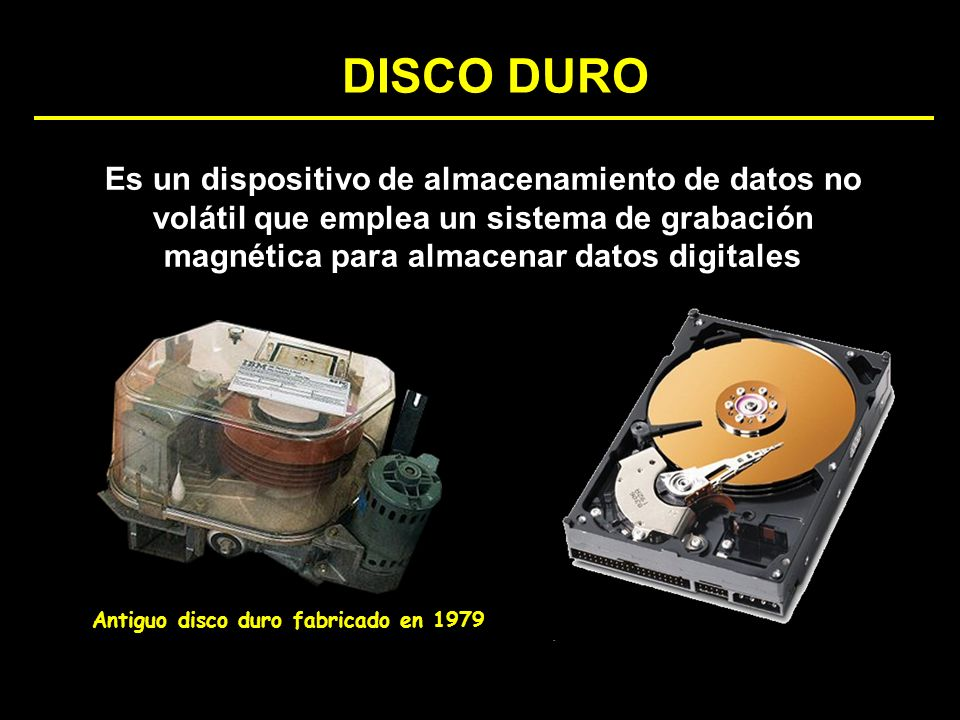 Antiguo disco duro fabricado en 1979