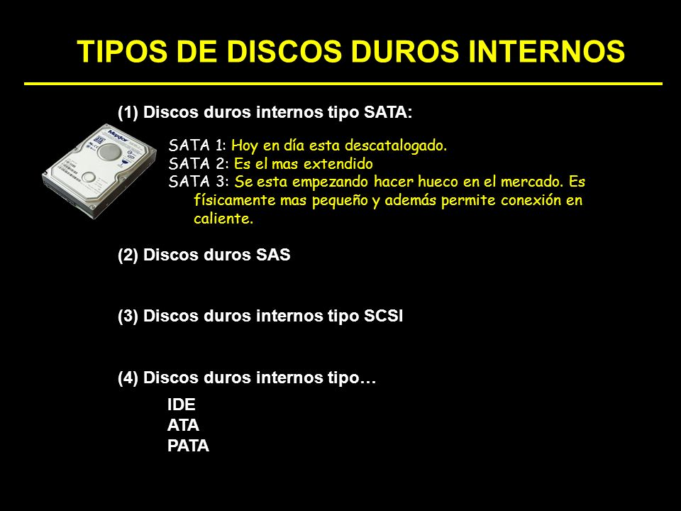 TIPOS DE DISCOS DUROS INTERNOS