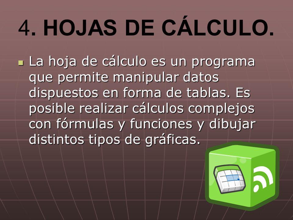 4. HOJAS DE CÁLCULO.