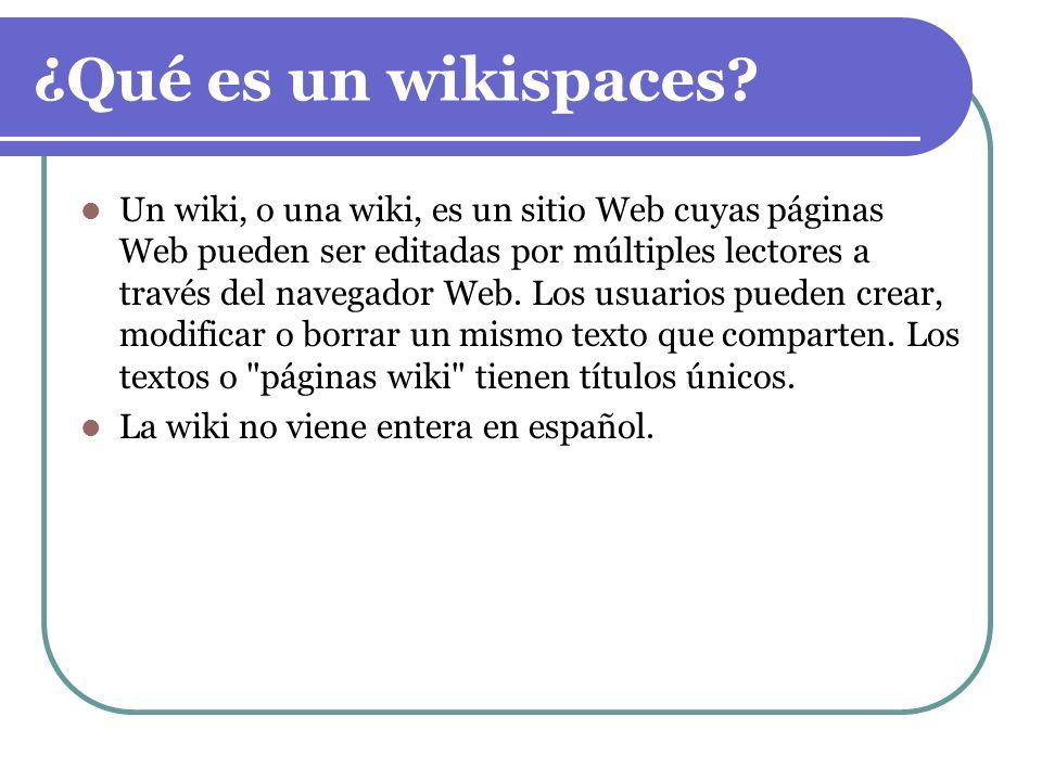 ¿Qué es un wikispaces