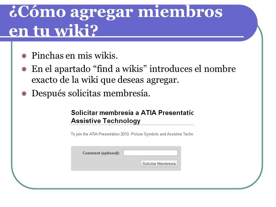 ¿Cómo agregar miembros en tu wiki