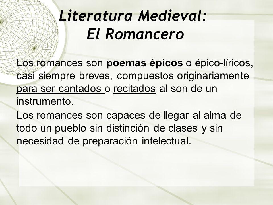 Literatura Medieval: El Romancero