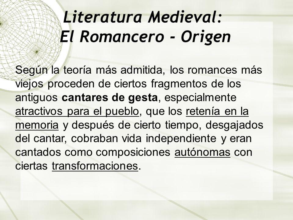 Literatura Medieval: El Romancero - Origen