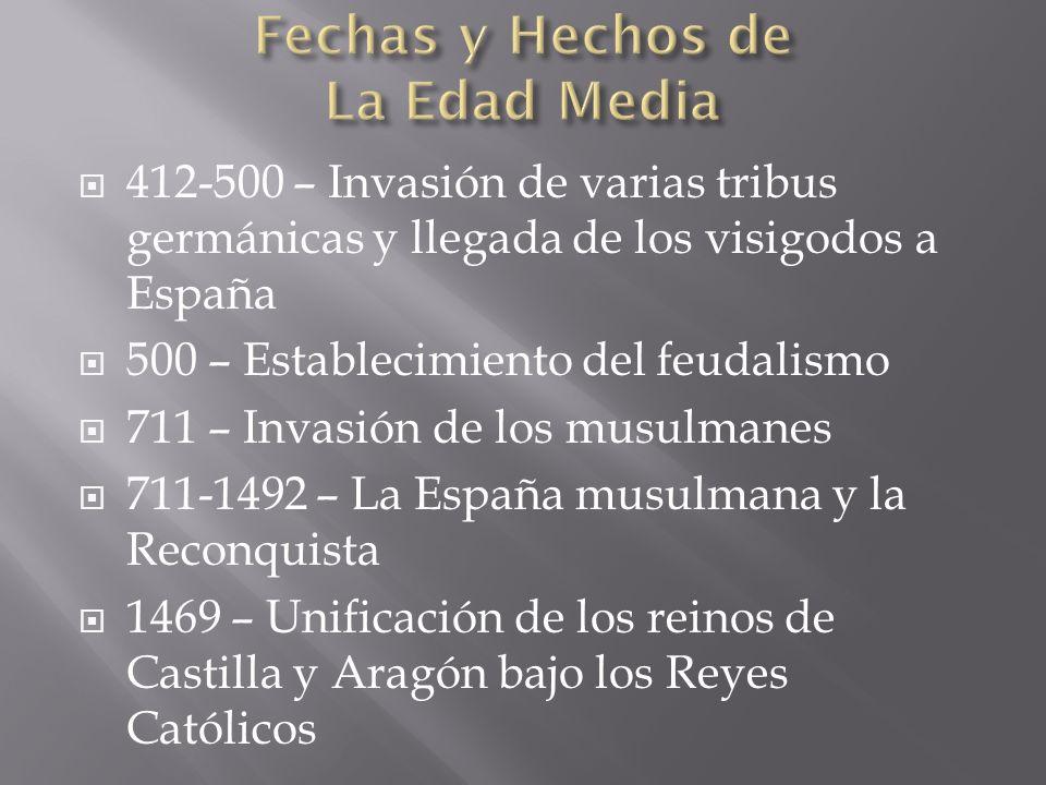 Fechas y Hechos de La Edad Media