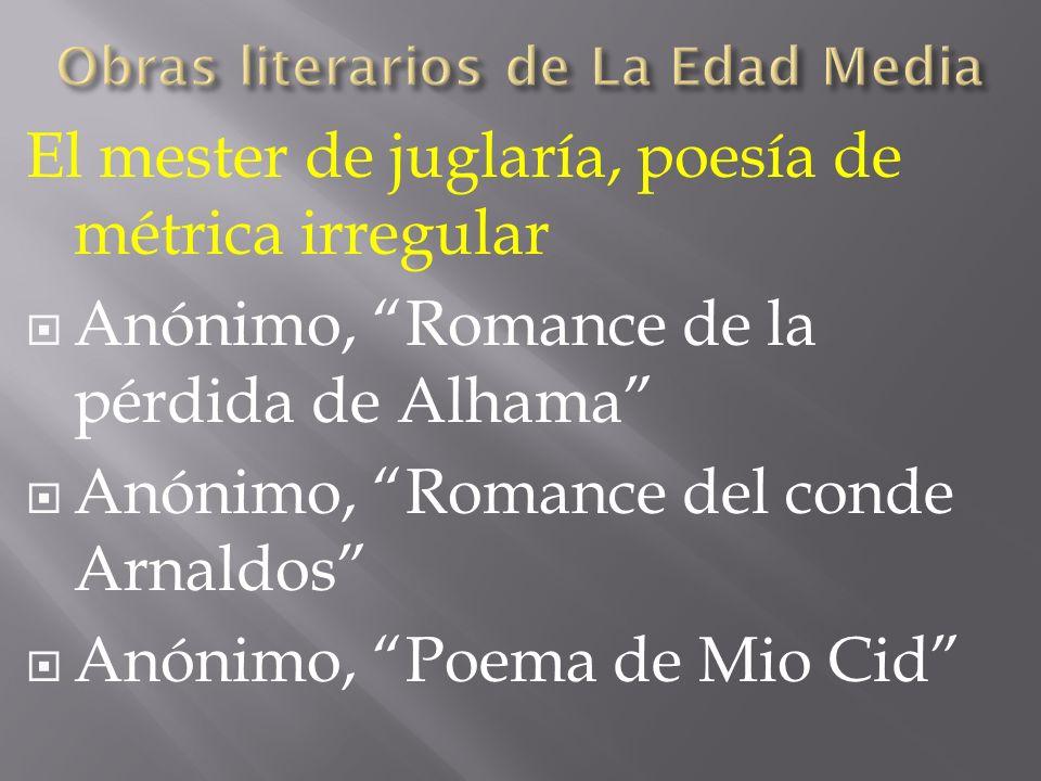 Obras literarios de La Edad Media