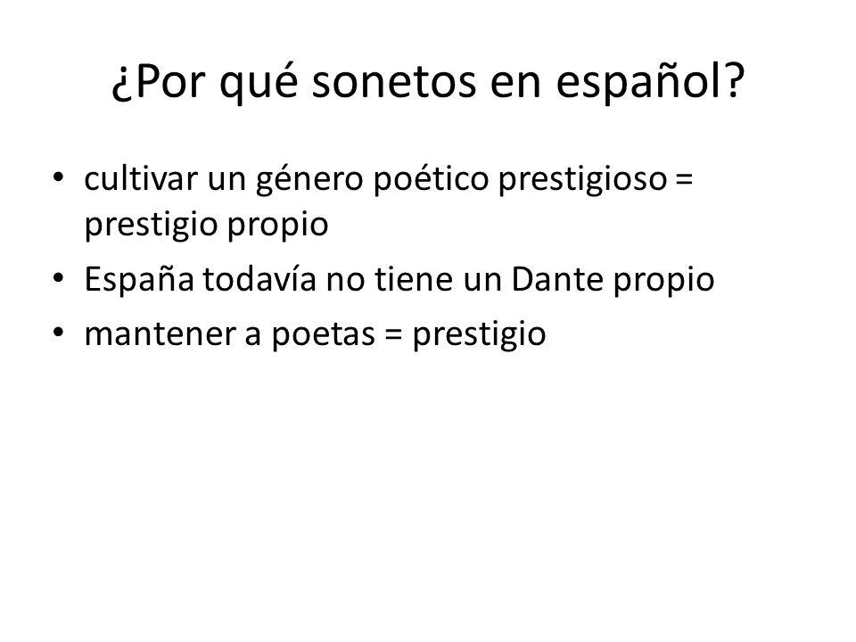 ¿Por qué sonetos en español