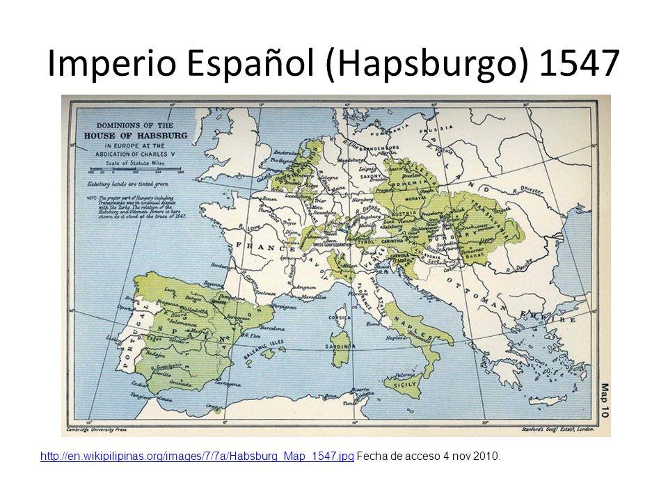 Imperio Español (Hapsburgo) 1547