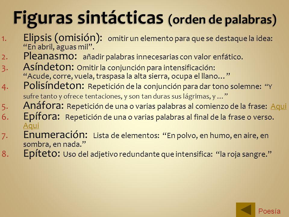 Figuras sintácticas (orden de palabras)