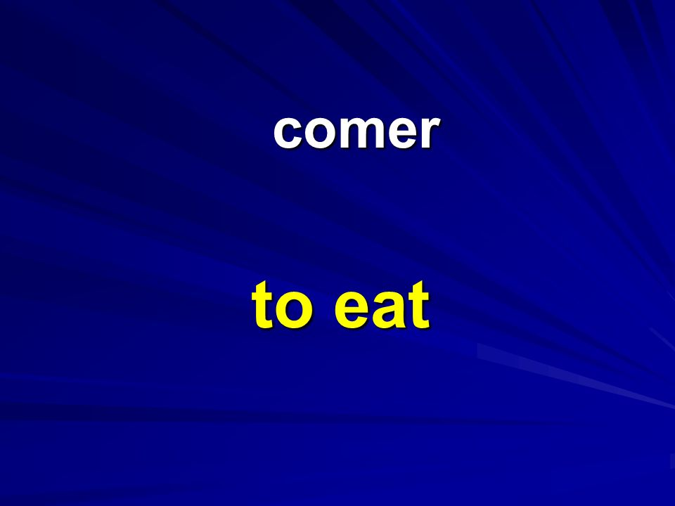comer to eat