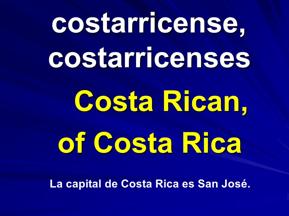 costarricense, costarricenses
