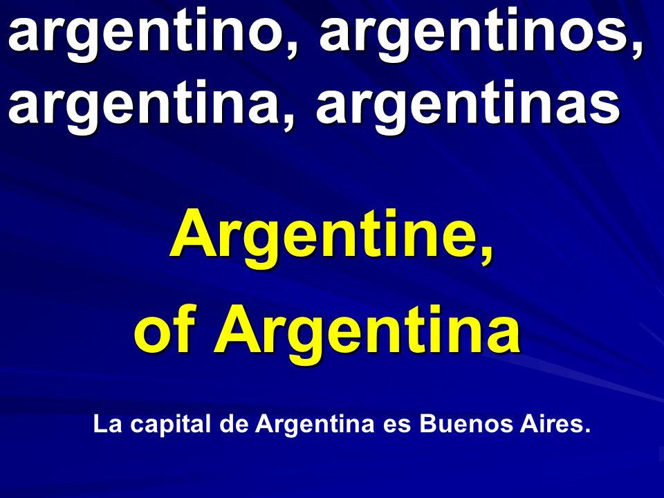 argentino, argentinos, argentina, argentinas