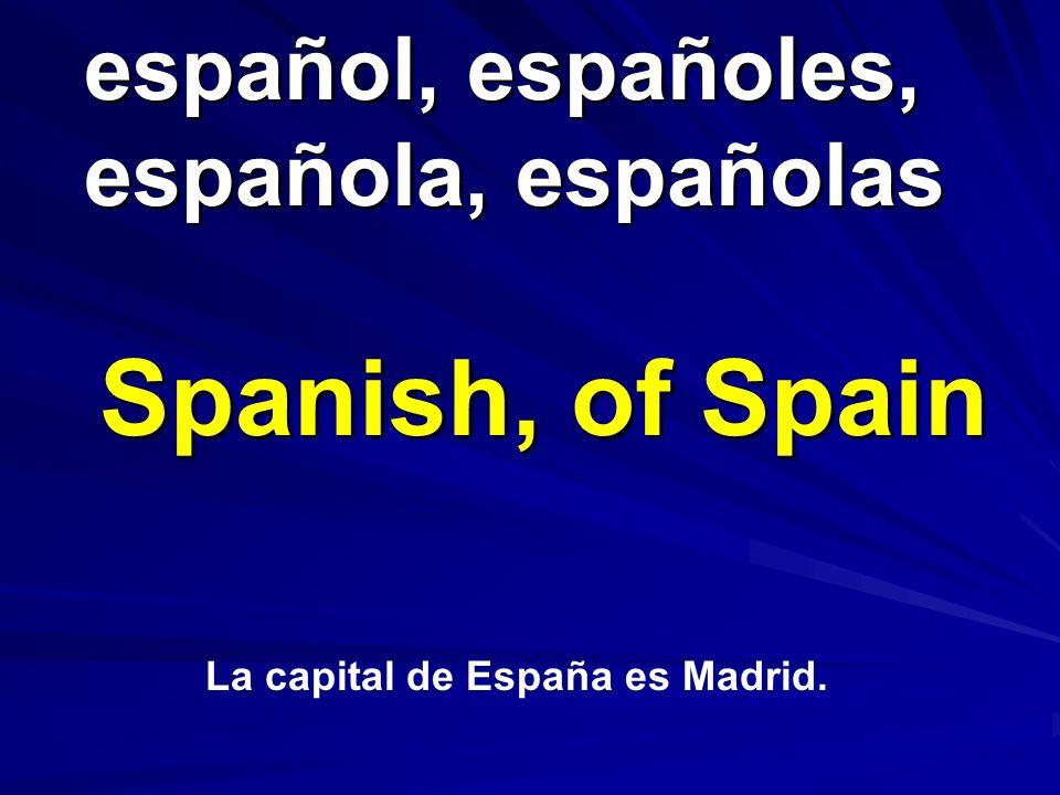 español, españoles, española, españolas