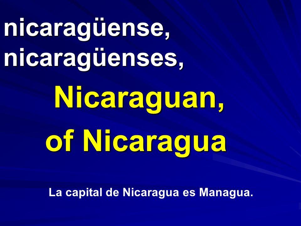 nicaragüense, nicaragüenses,