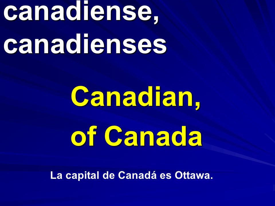 canadiense, canadienses
