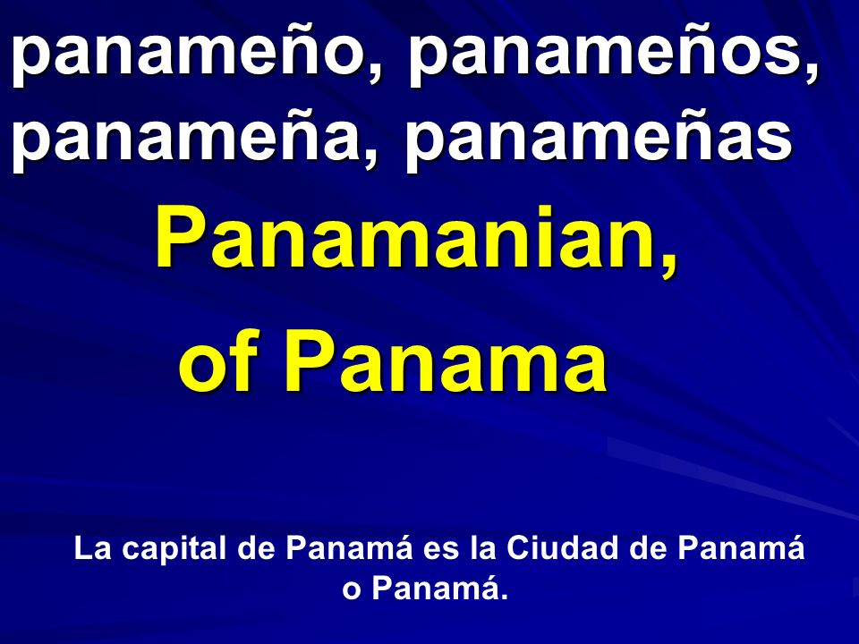 panameño, panameños, panameña, panameñas