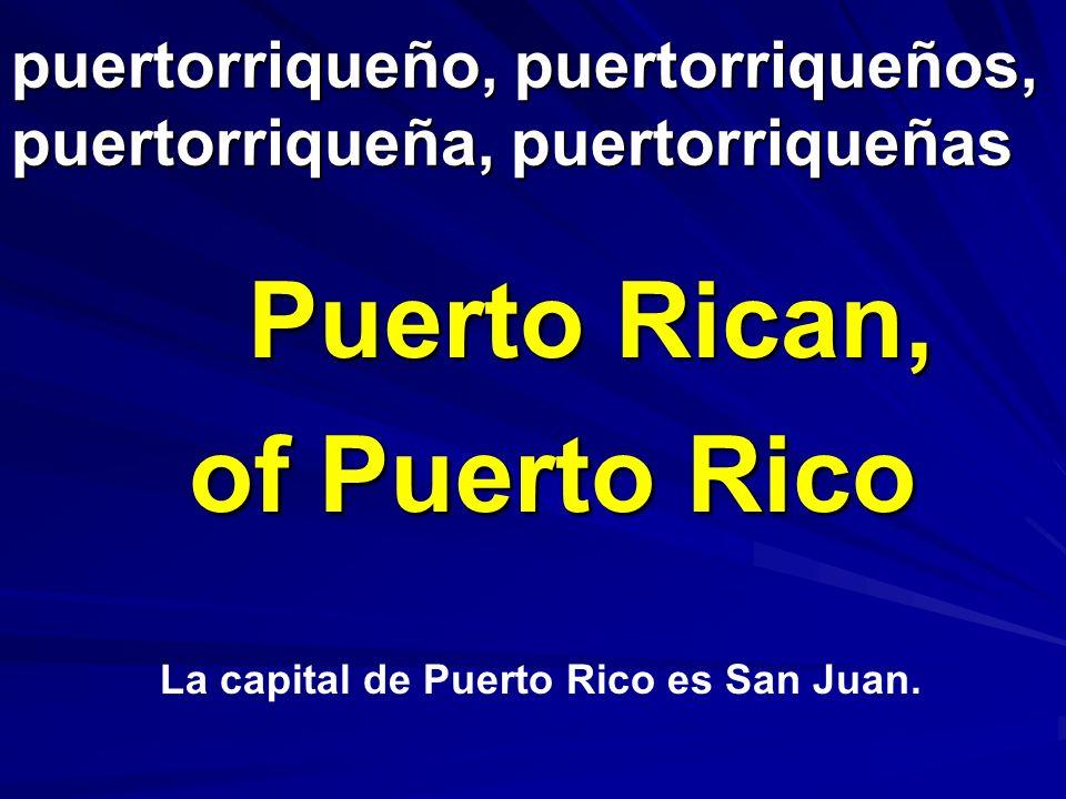 puertorriqueño, puertorriqueños, puertorriqueña, puertorriqueñas