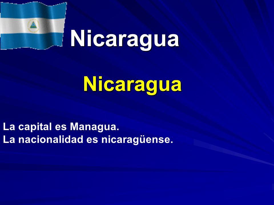Nicaragua Nicaragua La capital es Managua.