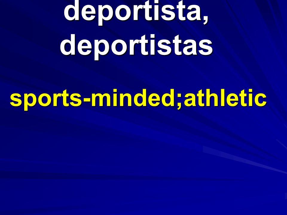 deportista, deportistas