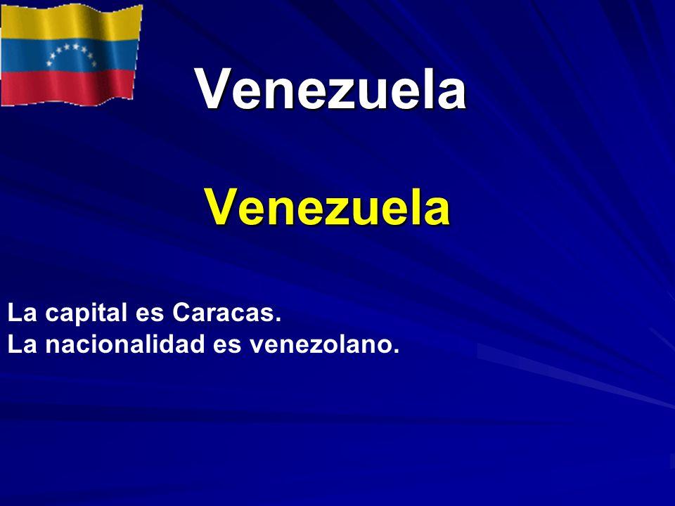 Venezuela Venezuela La capital es Caracas.