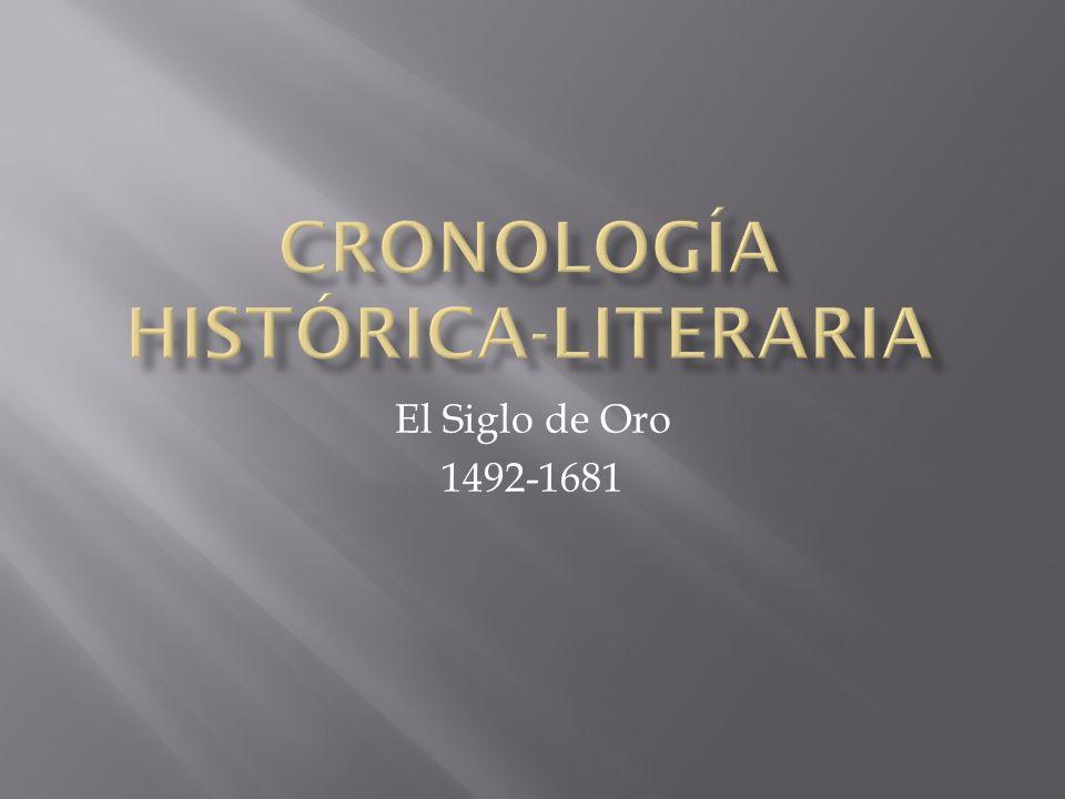 Cronología histórica-literaria