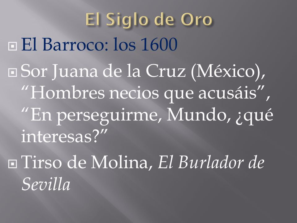 Tirso de Molina, El Burlador de Sevilla