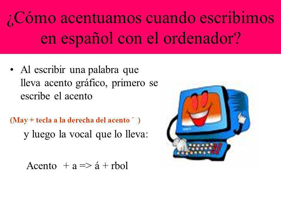 ¿Cómo acentuamos cuando escribimos en español con el ordenador