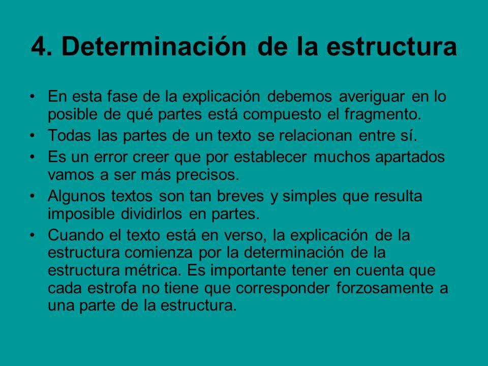 4. Determinación de la estructura