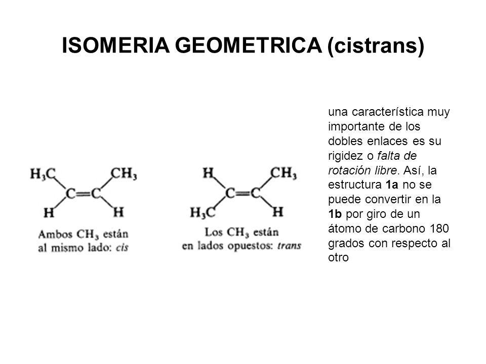 ISOMERIA GEOMETRICA (cistrans)